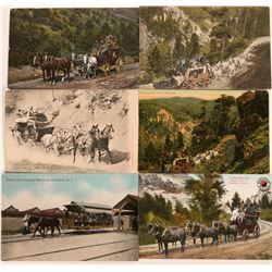 Stage Coach Postcards (6)  (118459)