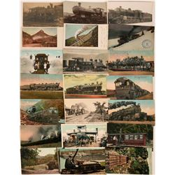 Steam Locomotives Postcards (21)  (118496)