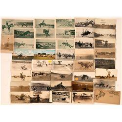Western Cowboy Rodeos Postcards (45)  (118478)