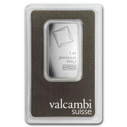 Genuine 1 oz 0.9999 Fine Platinum Bar - Valcambi
