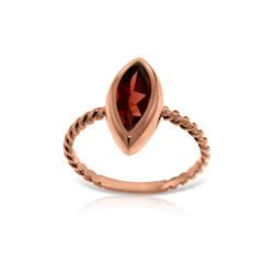 Genuine 2 ctw Garnet Ring 14KT Rose Gold - REF-39Y3F