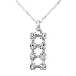 0.48 CTW Diamond Necklace 18K White Gold - REF-36H5M
