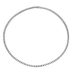 11.98 CTW Diamond Necklace 14K White Gold - REF-861N2Y