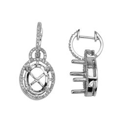 0.41 CTW Diamond Earrings 14K White Gold - REF-44Y3X