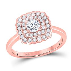 Round Diamond Solitaire Bridal Wedding Engagement Ring 3/4 Cttw 14kt Rose Gold - REF-106W9K