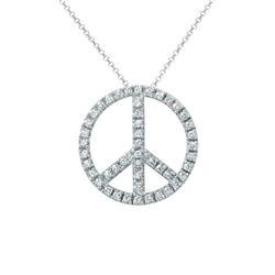 0.67 CTW Diamond Necklace 14K White Gold - REF-48K3W