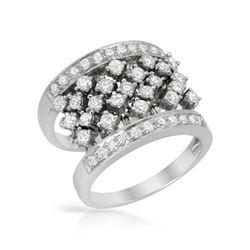 1.44 CTW Diamond Ring 18K White Gold - REF-179Y3X