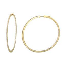 1.81 CTW Diamond Earrings 14K Yellow Gold - REF-140Y7X