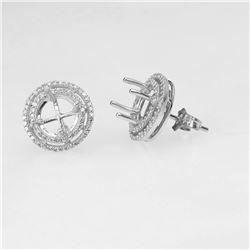 0.39 CTW Diamond Earrings 14K White Gold - REF-44Y2X