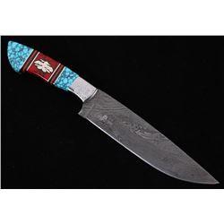 Navajo D. Yellowhorse Turquoise Thunderbird Knife