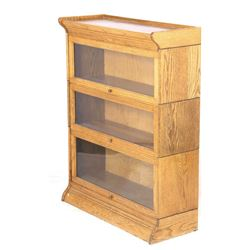 Antique Quarter Sawn Oak Barrister Cabinet
