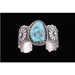 Navajo Pilot Mountain Turquoise Sterling Bracelet