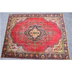 Tabriz Persian Hand Knotted Large Wool Rug