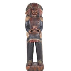 Large Cigar Store Indian Carved Wood - Life Size