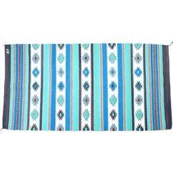 Diamonds Aqua Churro Wool Rug by Alicia Gutierrez