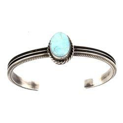 Navajo W Dawes Royston Turquoise Sterling Bracelet