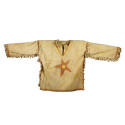 Ghost Dance Polychrome Painted Dance Shirt c. 1890