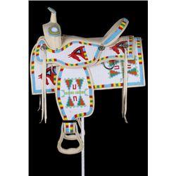 Sioux Fully Beaded Parade Saddle circa 1950-60's