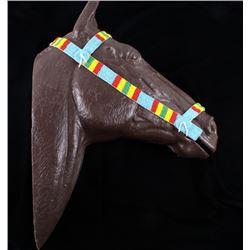 Sioux Fully Beaded Horse Headstall c. 1950-60's