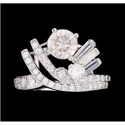 Vintage 1.80 ct Diamond Mid-Century Platinum Ring