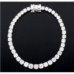 GORGEOUS 10.58 cts. Diamond 14K Gold Bracelet