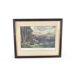 """Rare """"In The Northern Wilds"""" Original Lithograph"""