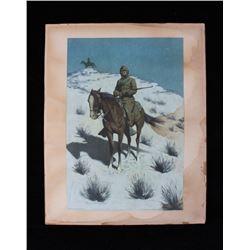Remington, Frederic: The Cossack Post Chromo Litho