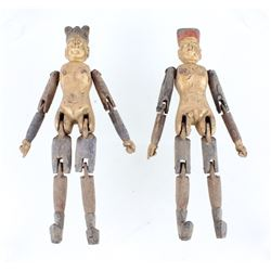 Chinese Qing Dynasty Male & Female Doctor Dolls