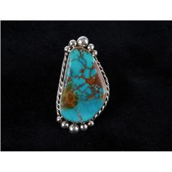 Navajo M. House Royston Turquoise Sterling Ring