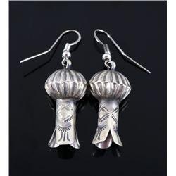 Navajo Chris Hale Sterling Silver Stamped Earrings