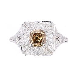 Fancy Brown Diamond Vintage Estate 18K Ring