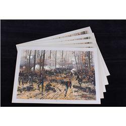 Louis Prang Battle of Shiloh Chromolithograph 1888