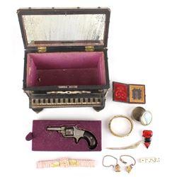 Pre 19th c. Feminine Boudoir Box & Personals