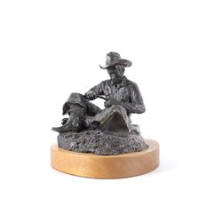 Bill L. Hill Seated Cowboy Bronze 23/25