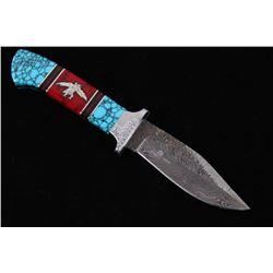 Navajo D Yellowhorse Turquoise Eagle Kachina Knife