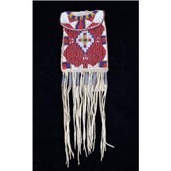 Apache Beaded Strike-A-Lite Possible Bag c. 1900-