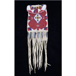 Apache Beaded Strike-A-Lite Possible Bag c. 1900-
