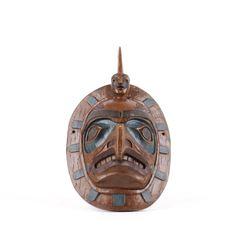 Northwest Coast Indian Kwakiutl Thorn Hawk Mask