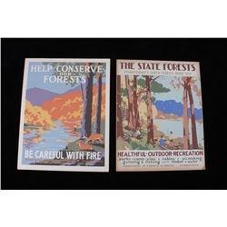WPA Pennsylvania Forests & Waters Posters 1930s
