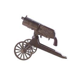 Anti-Aircraft Rapid Fire Machine Gun Cast Iron Toy