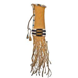 Cheyenne Beaded Hide Tobacco Bag c. 1870