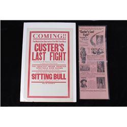 Custer's Last Fight Movie Announcement 1925
