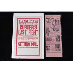 Custer's Last Fight Movie Announcement 1925