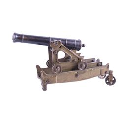 Spanish Made Iron and Brass Rifled Cannon