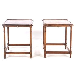 Pair of Art Deco Wood End Tables
