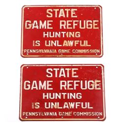 Pennsylvania Game Refuge No Hunting Signs