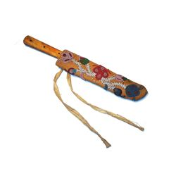 Chippewa Beaded Hide Sheath & Knife 1890-1900