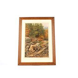 A.B. Frost (1851-1928) Deer Hunting Chromo Litho