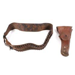US Milwaukee Saddlery Leather Gun Belt & Holster