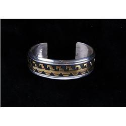 Navajo T&R Singer Sterling Gold Overlay Bracelet